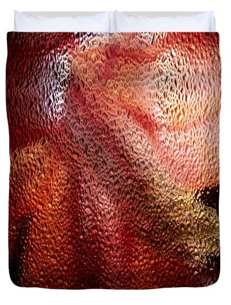 Christmas Cactus Duvet Cover by Sharon Elliott