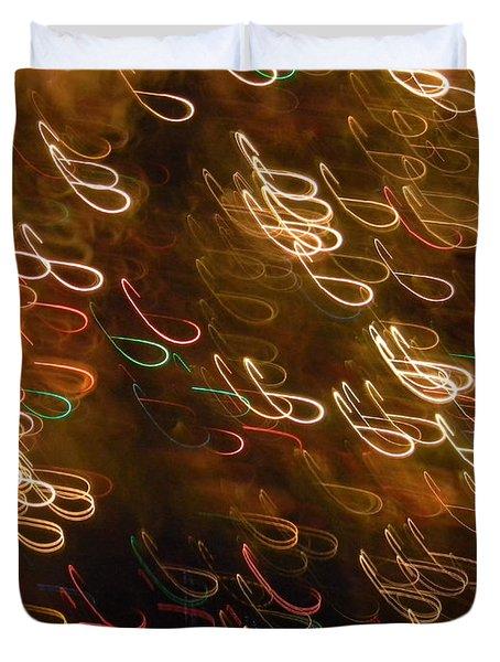 Christmas Card - The Manger Duvet Cover