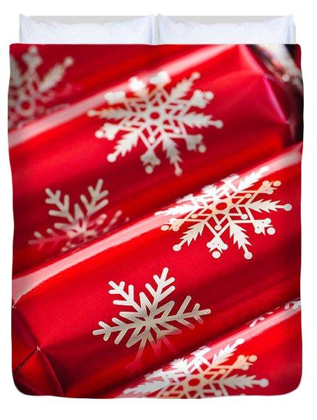 Christmas Crackers Duvet Cover by Elena Elisseeva