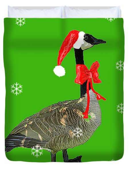 Christmas Goose Duvet Cover