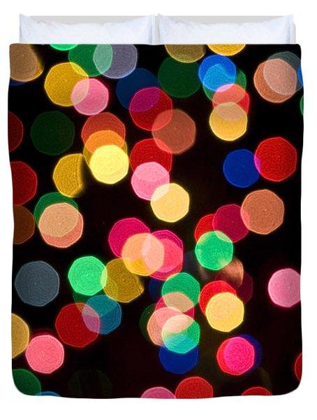 Christmas Lights Duvet Cover by John Greim