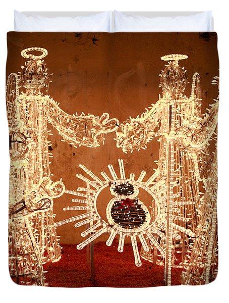 Christmas Scene Duvet Cover by Gaspar Avila