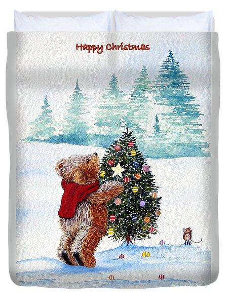 Christmas Star Duvet Cover by Gordon Lavender