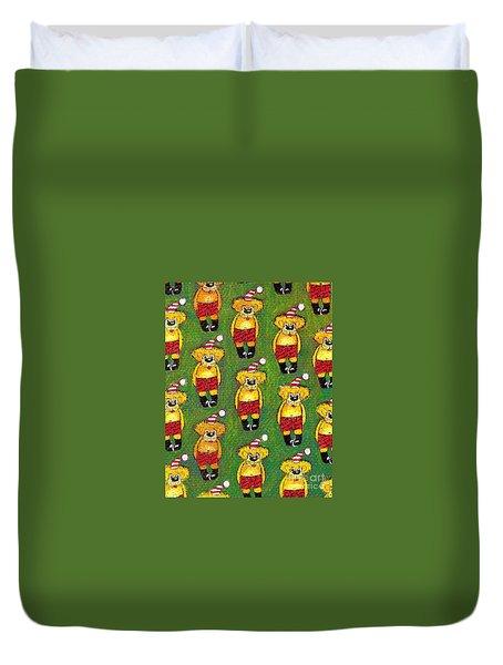 Christmas Teddy Bears Duvet Cover by Genevieve Esson