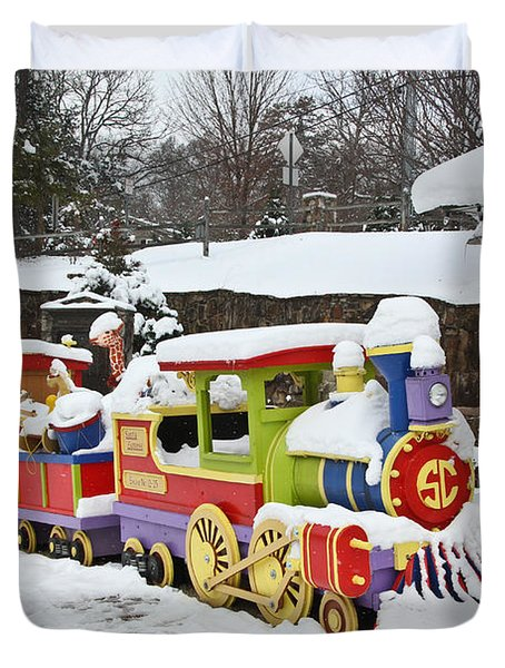 Christmas Train Duvet Cover