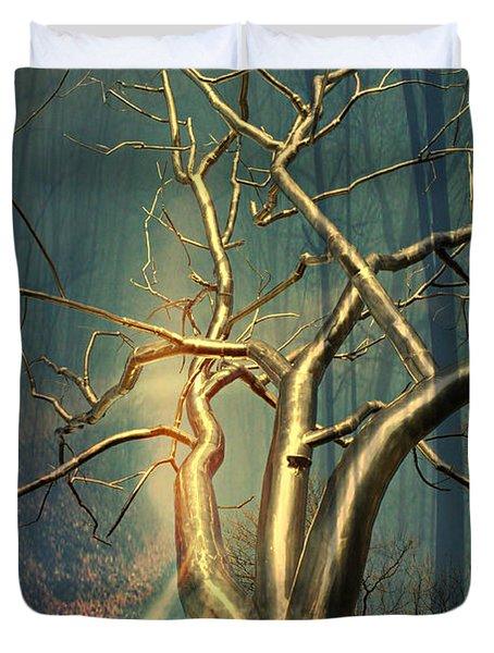 Chrome Forest Duvet Cover by Marty Koch