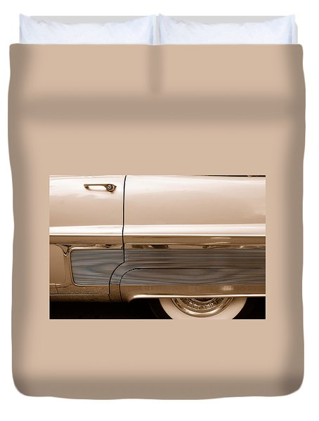 Duvet Cover featuring the photograph Chrome by John Schneider