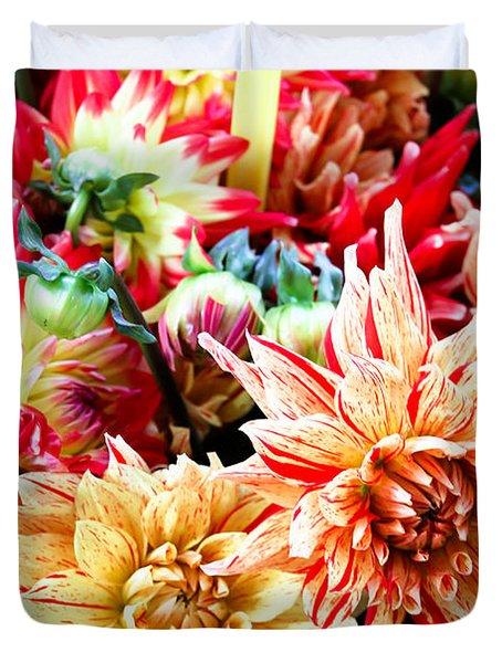 Chrysanthemum Blooms Duvet Cover