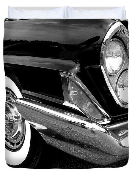Chrysler 300 Headlight In Black And White Duvet Cover