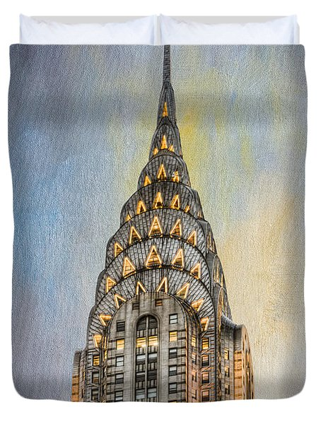 Chrysler Building I Duvet Cover by Clarence Holmes