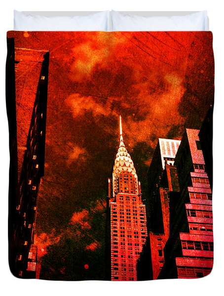 Chrysler Building - New York City Surreal Duvet Cover by Vivienne Gucwa
