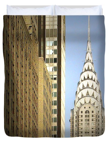 Chrysler Building Nyc - Streamlined Majesty Duvet Cover by Christine Till