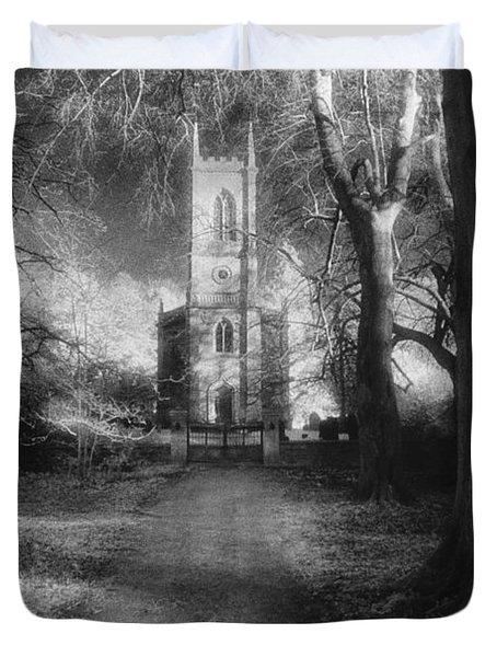 Church Of St Mary Magdalene Duvet Cover by Simon Marsden