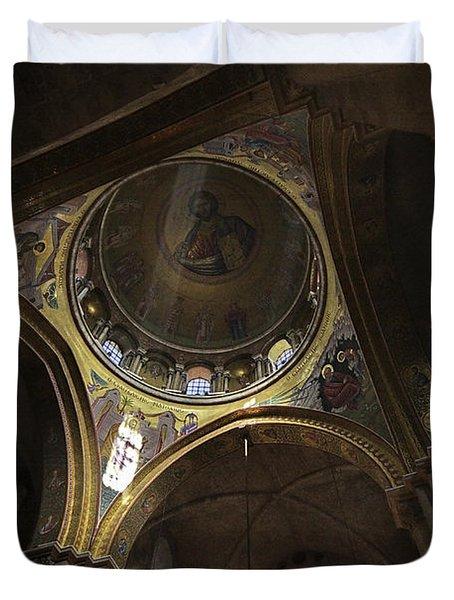church of the holy sepulchre Jerusalem Duvet Cover