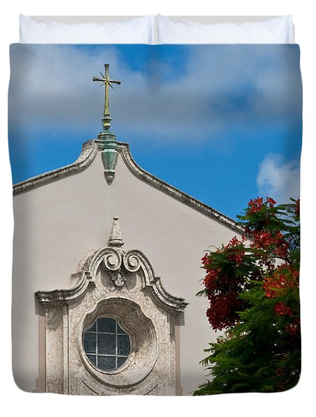 Duvet Cover featuring the photograph Church Of The Little Flower by Ed Gleichman