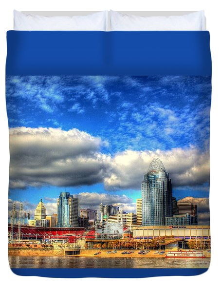Cincinnati Skyline 2012 - 2 Duvet Cover