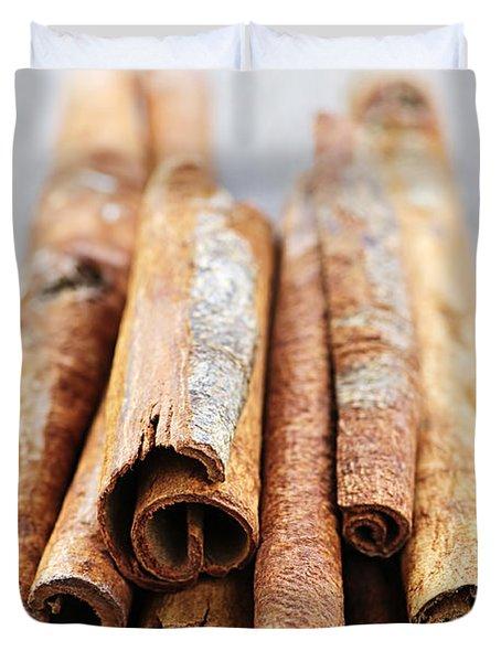 Cinnamon Sticks Duvet Cover by Elena Elisseeva