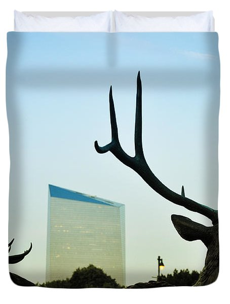 Cira Center From Eakins Oval Duvet Cover by Bill Cannon