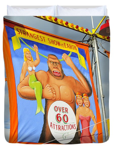 Circus Attractions Duvet Cover by David Lee Thompson