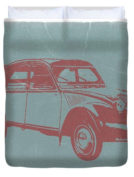 Citroen 2cv Duvet Cover by Naxart Studio