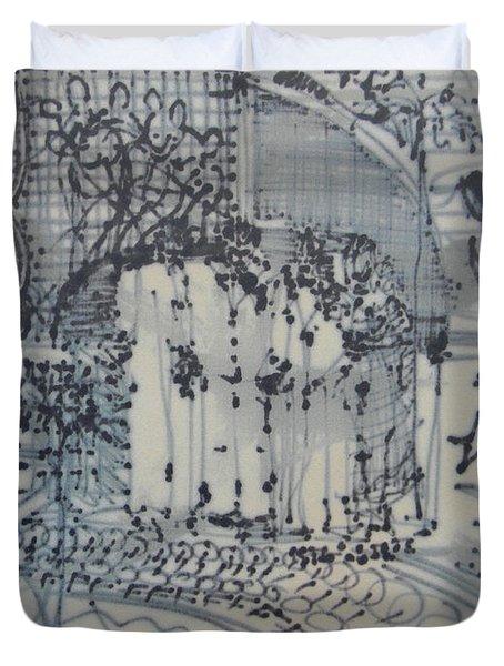 City Doodle Duvet Cover