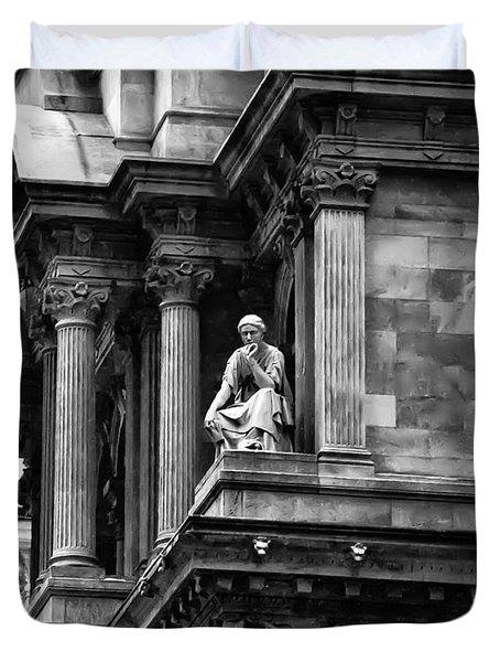 City Hall Edifice - Philadelphia Duvet Cover by Bill Cannon