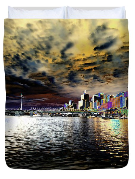 City Of Color Duvet Cover by Douglas Barnard