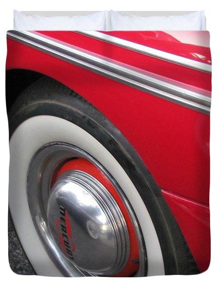 Classic Car Mercury Red 1 Duvet Cover by Anita Burgermeister