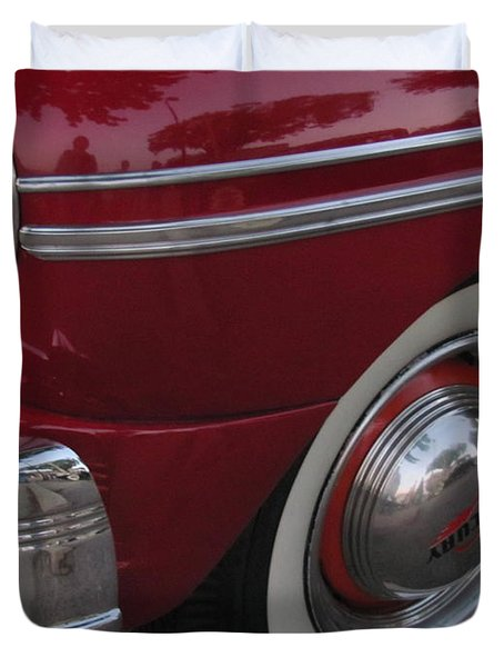 Classic Car Mercury Red 3 Duvet Cover by Anita Burgermeister