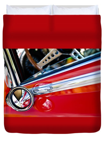 Classic Red Car Artwork Duvet Cover