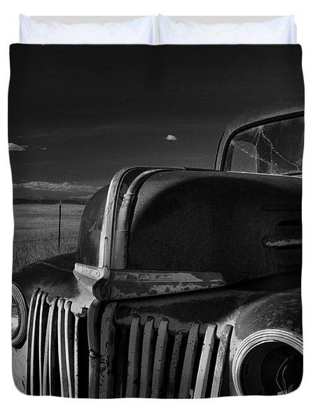 Duvet Cover featuring the photograph Classic Rust by Ron Cline