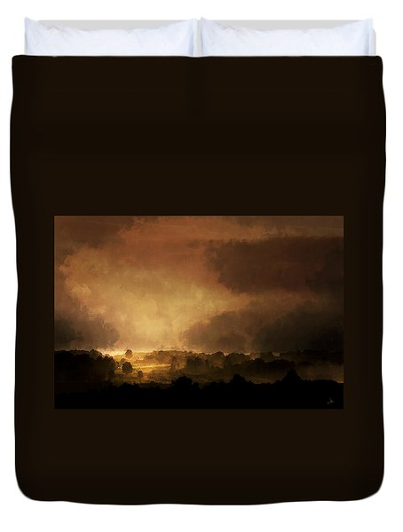 Clearing Storm Duvet Cover by Ron Jones