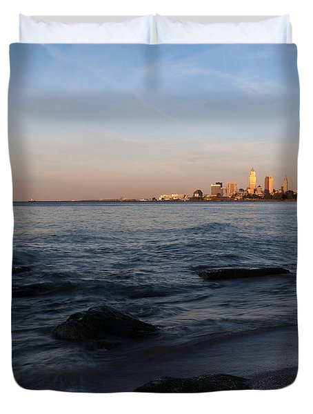 Cleveland From The Shadows Duvet Cover