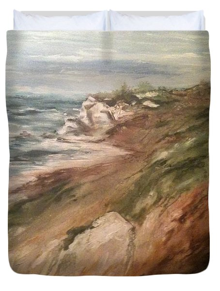 Cliff Side - Newport Duvet Cover