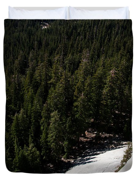 Climber In Yosemite Duvet Cover