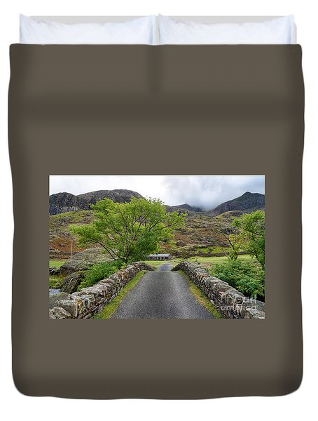 Climbers Lodge Duvet Cover by Adrian Evans