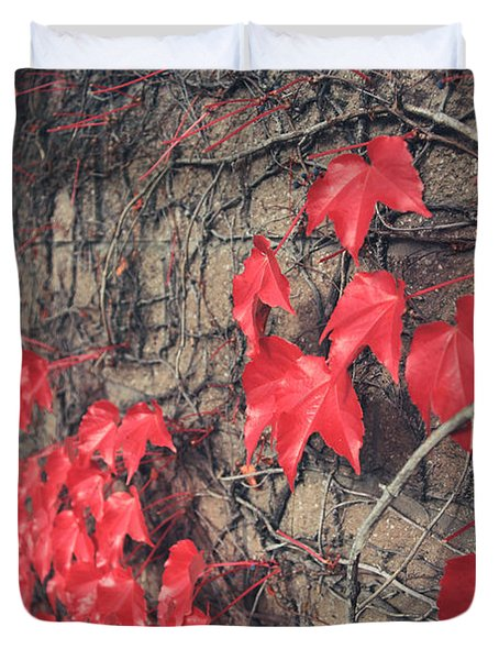 Clinging Duvet Cover by Laurie Search