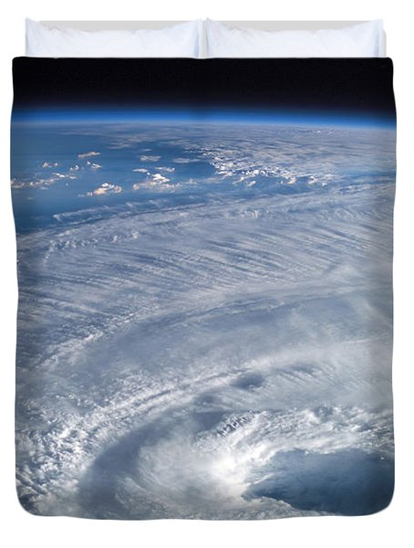 Close-up View Of The Eye Of Hurricane Duvet Cover