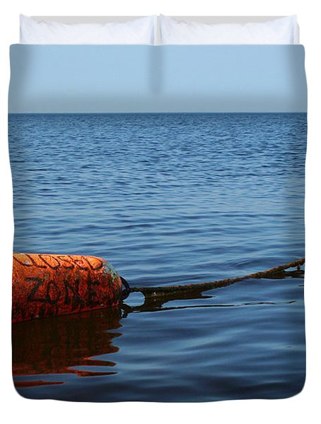 Duvet Cover featuring the photograph Closed by Barbara McMahon