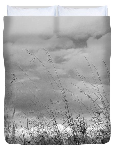 Duvet Cover featuring the photograph Cloud Watching by Kathleen Grace