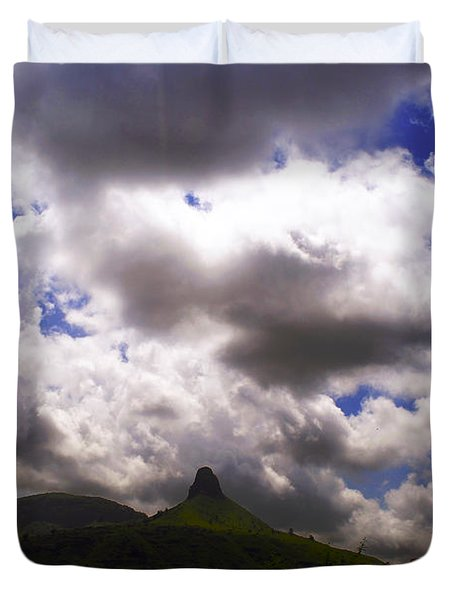 Clouded Hills At Nasik India Duvet Cover by Sumit Mehndiratta