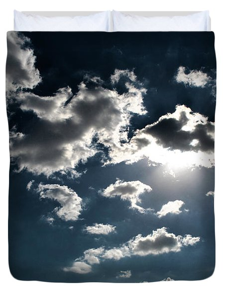 Clouds On A Sunny Day Duvet Cover by Sumit Mehndiratta