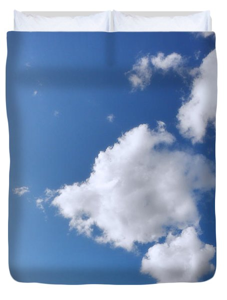 Clouds On Blue Sky Duvet Cover