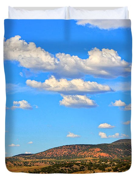 Cloudy Wyoming Sky Duvet Cover