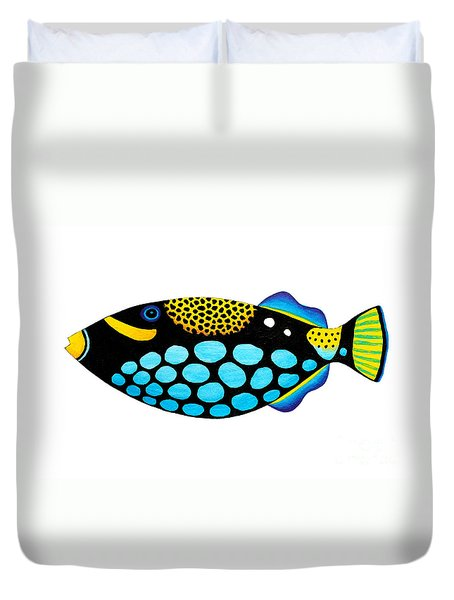 Clown Triggerfish  Duvet Cover by Opas Chotiphantawanon