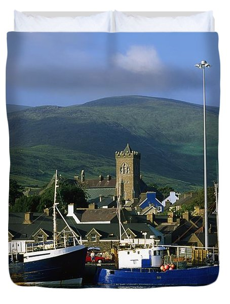 Co Kerry, Dingle Harbour Duvet Cover by The Irish Image Collection