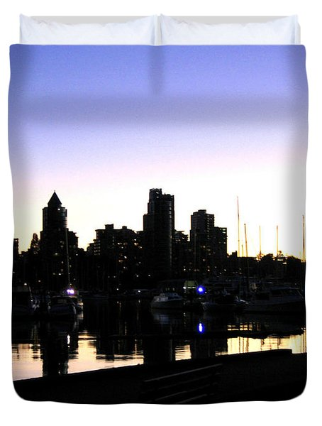 Coal Harbour Duvet Cover by Will Borden