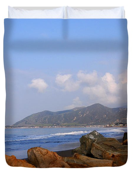 Coast Line California Duvet Cover by Susanne Van Hulst