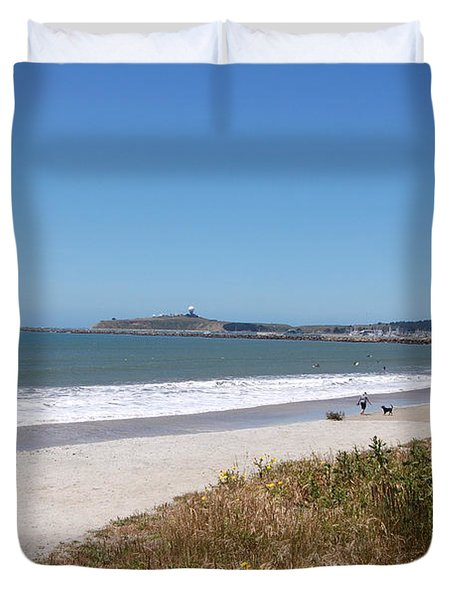 Coastside California Duvet Cover by Carolyn Donnell