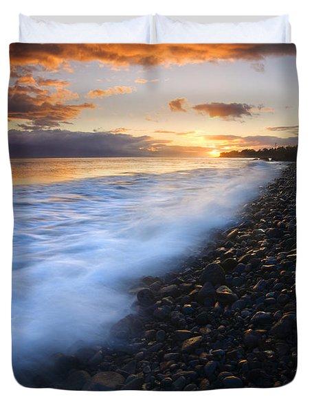 Cobblestone Sunset Duvet Cover by Mike  Dawson